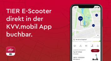 E-Scooter von TIER ab sofort über KVV.mobil App buchbar