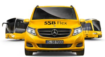 SSB Flex zur Hauptverkehrszeit im Synergiepark Vaihingen