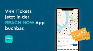 VRR Tickets jetzt buchbar in der Reach Now App